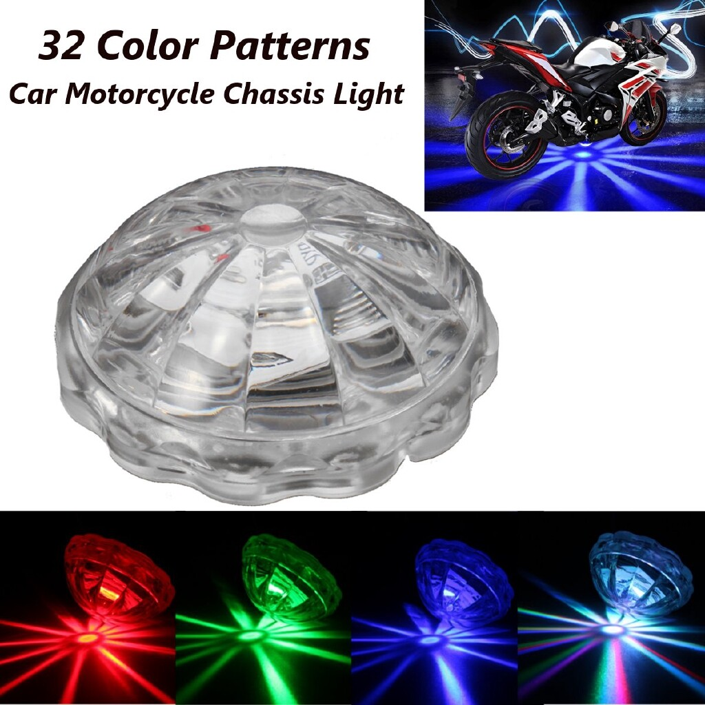 Moto Spare Parts - Motorcycle Chassis Light Under Scooter Flasher Tail Brake Fog 32 Modes Flash - Motorcycles, & Accessories