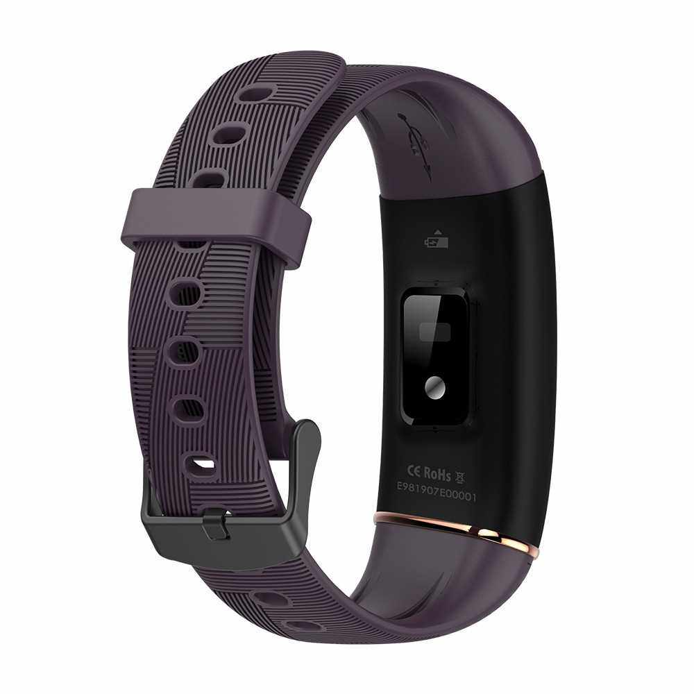 Smart Bracelet for Women Accurate Thermometer Heart Rate Blood Pressure Blood Oxygen Monitoring Secientific Sleep Multi-Sports Mode IP67 Waterproof Female Fitness Smartwatches Compatible with Android/ iOS (Dark Purple)