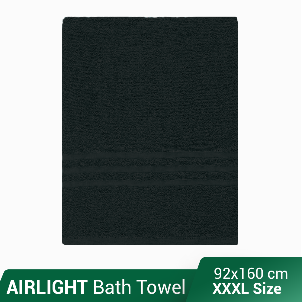 AirLight XXXL Towel Bath Sheet Made of 100% Natural Combed Cotton: Full Bath Size , Great for Women, XXXL Size! - AirLight Series Towels / Fast packing / Fast Shipping / Comfortable / Water absorbent / Extra Extra Large size / 36 x 62 inch -- 90x160 cm