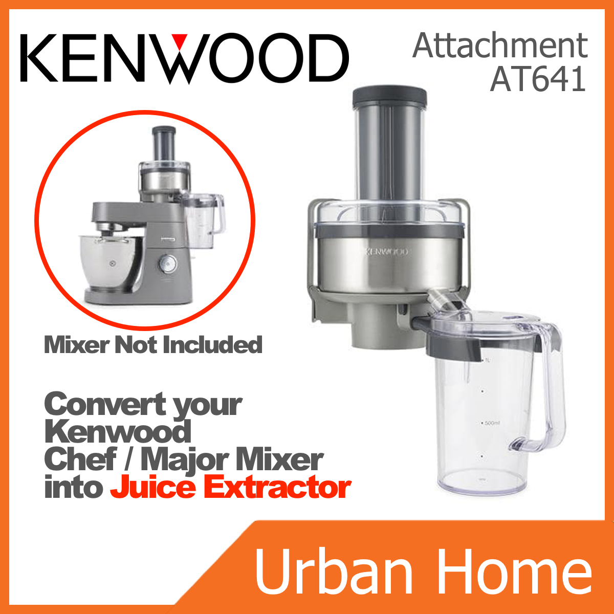 KENWOOD Juice Attractor Attachment forChef/Major Professional Series Mixer (AT641)