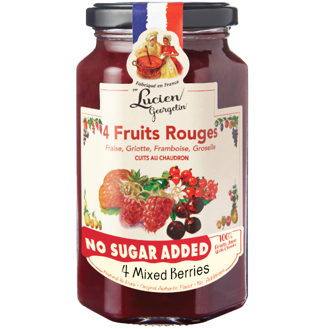 Lucien Georgelin 4 Mixed Berries Jam 300g (No Sugar Added) - 4 Fruits Rouges