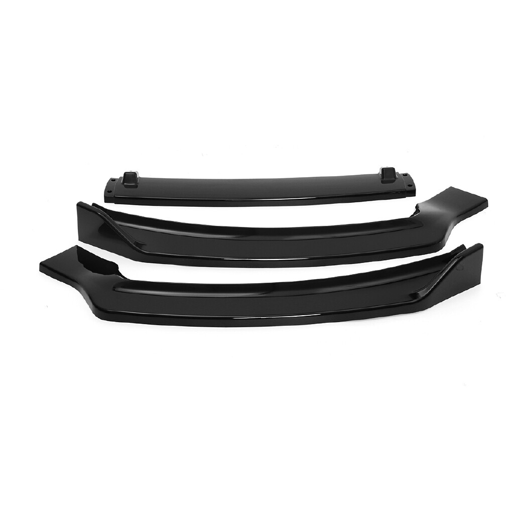 Automotive Tools & Equipment - 3PC For Ford Fusion/Mondeo 2013-2016 Gloss Black ABS Front Bumper Lip Cover Trim - Car Replacement Parts