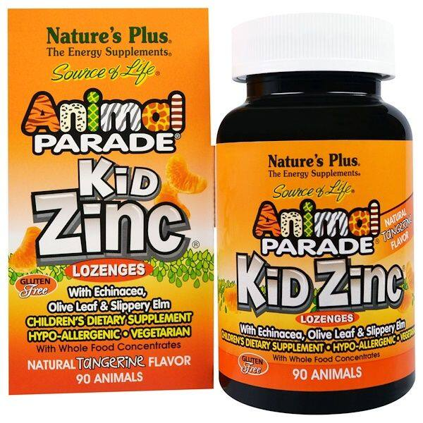 Nature\'s Plus, Source of Life, Animal Parade, Kid Zinc Lozenges, 90 Animal-Shaped Lozenges