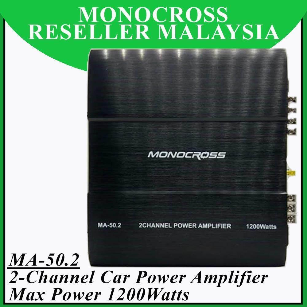 Monocross MA-50.2 Mosfet High Power Amplifier 2 Channel Max Power 1200Watts