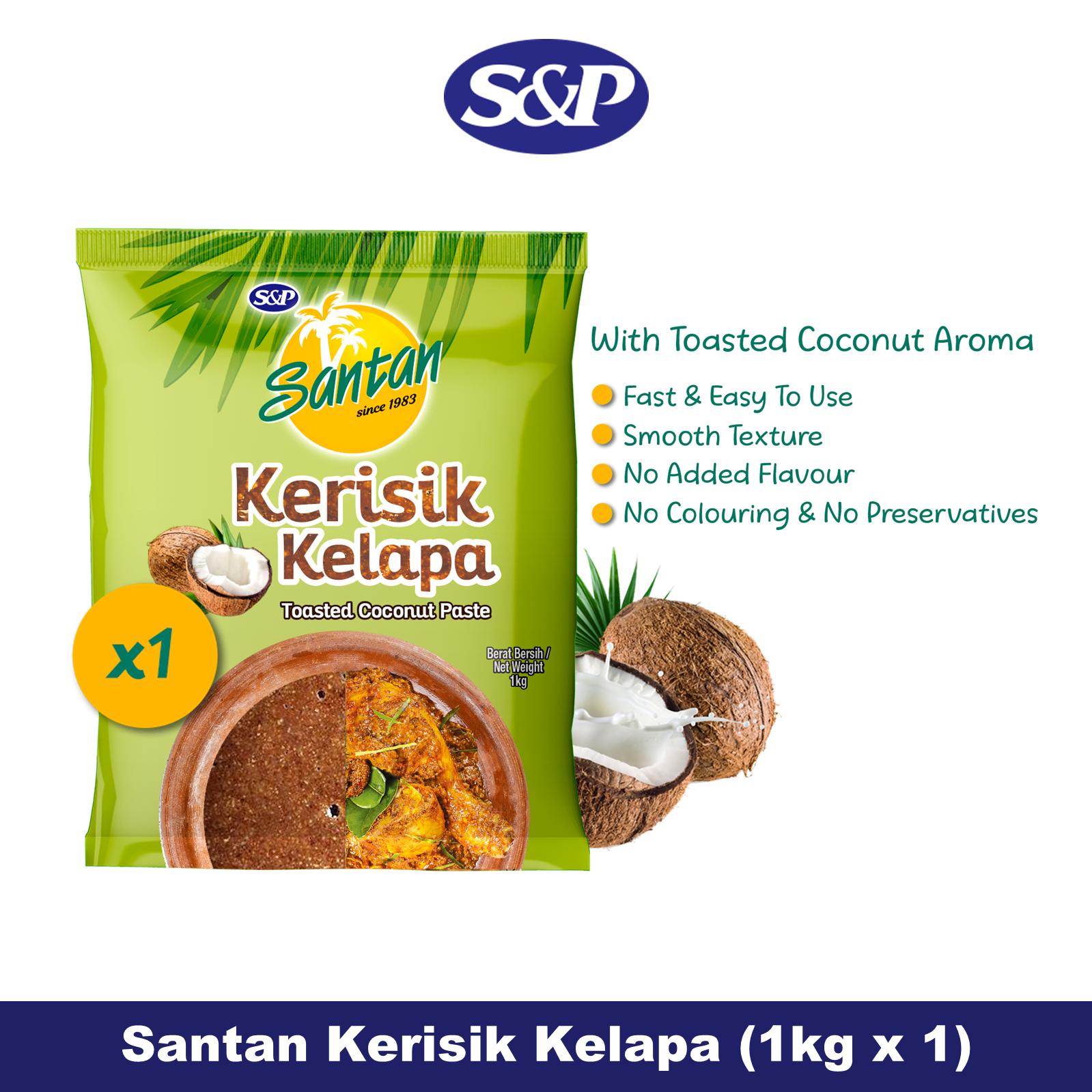 S&P Santan Coconut Paste Kerisik Kelapa (1kg x1)