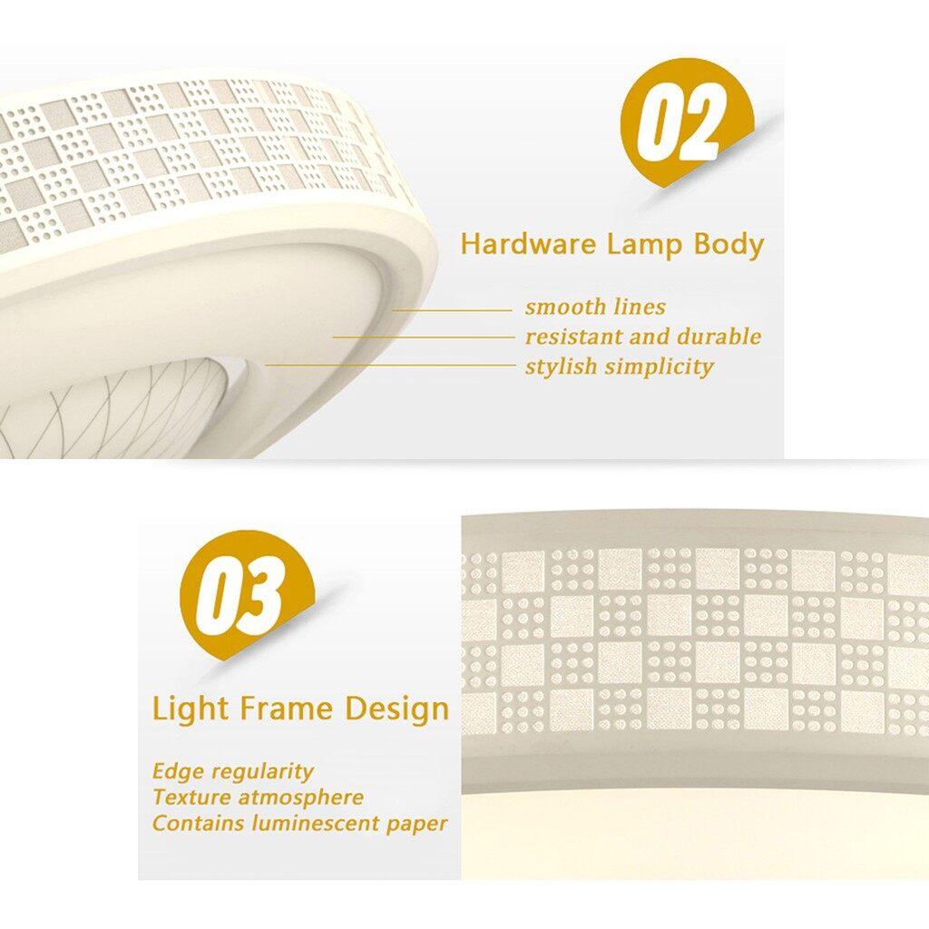 USB Light - GOXI 12W 1200LM LED Ceiling Light Round Flush Mount Fixture Lamp_3C - 12W WHITE / 12W WARM WHITE / 24W WHITE / 24W WARM WHITE