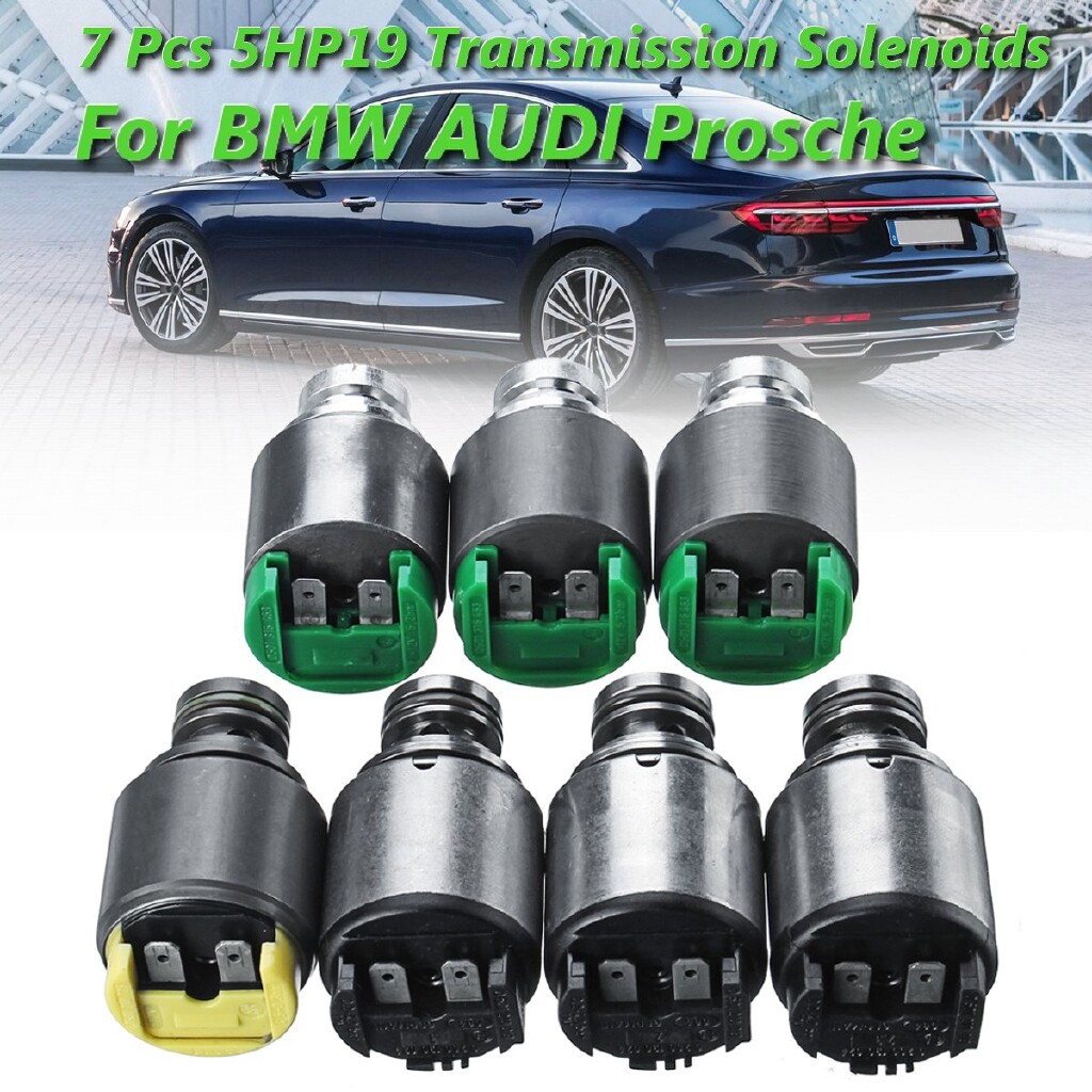 Automotive Tools & Equipment - 7 x Pressure Regulator Transmission Solenoids Kit 5HP19 For BMW AUDI Prosche - Car Replacement Parts