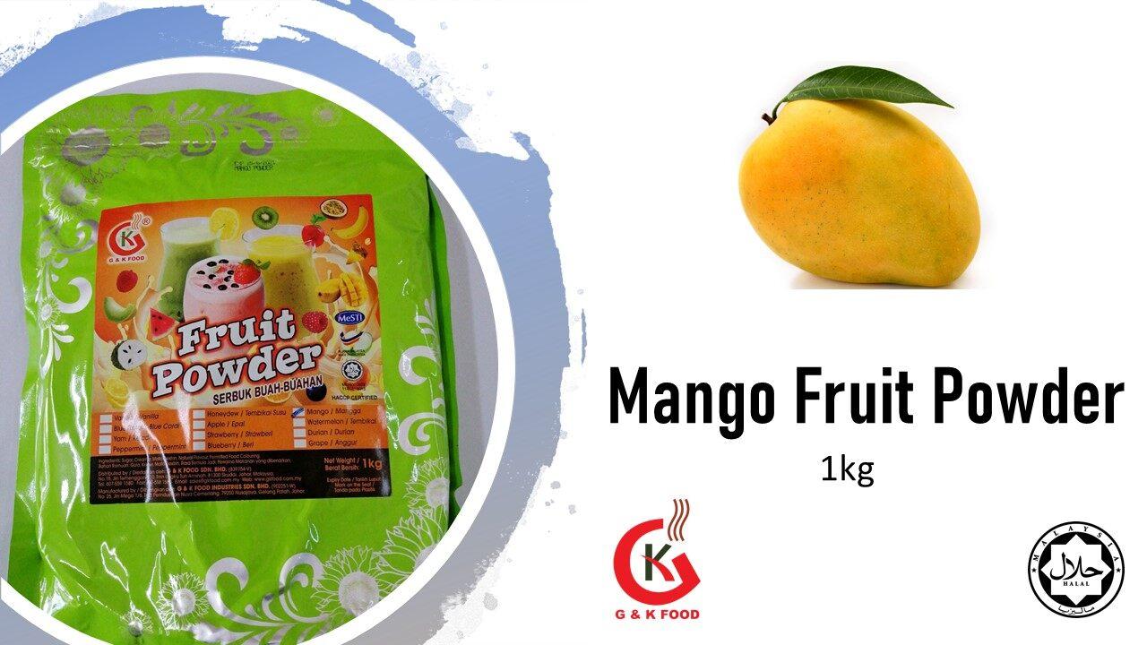 [100% JAKIM HALAL] 1kg Mango Fruit Powder/ Mango Milk Shake/ Mango Ice Blended/ Stock Cukup!!!