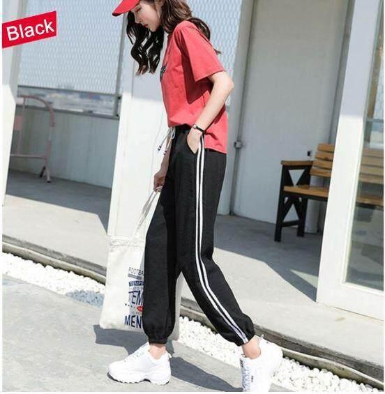 ReadyStockInMalayKorean Women Pants Plus Size Sports Jogger Harem Long Trousers Long Pants Sport Pants Fashion