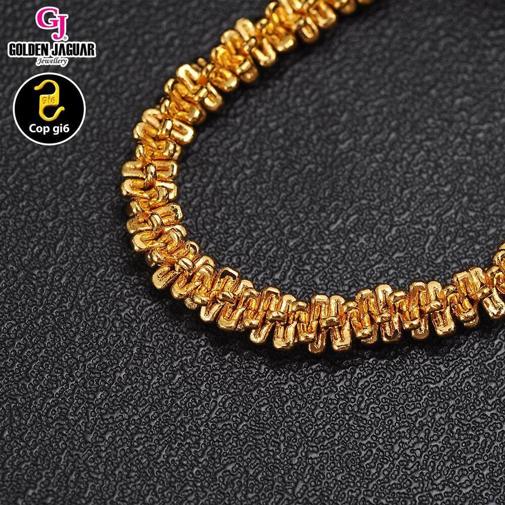 GJ Jewellery Emas Korea 24k Bracelet - Rantai Tangan Bulu (M) Bracelet (23630)