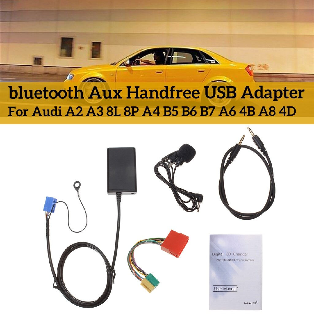 Car Lights - USB MP3 Interface Adapter BLUETOOTH Aux Cable For Audi A3 8L 8P A4 B5-B7 A6 4B - Replacement Parts