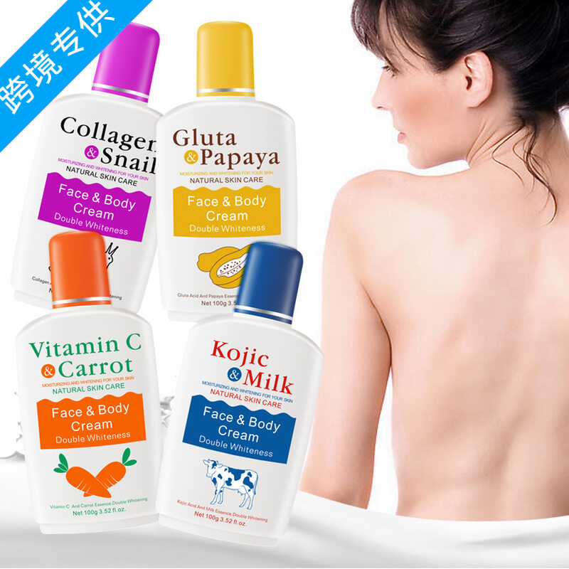 Vitamin C Carrot Bleaching Body Cream Milk Skin Whitening Moisturizing Snail Papaya Moisturizer Skin Lightening Cream
