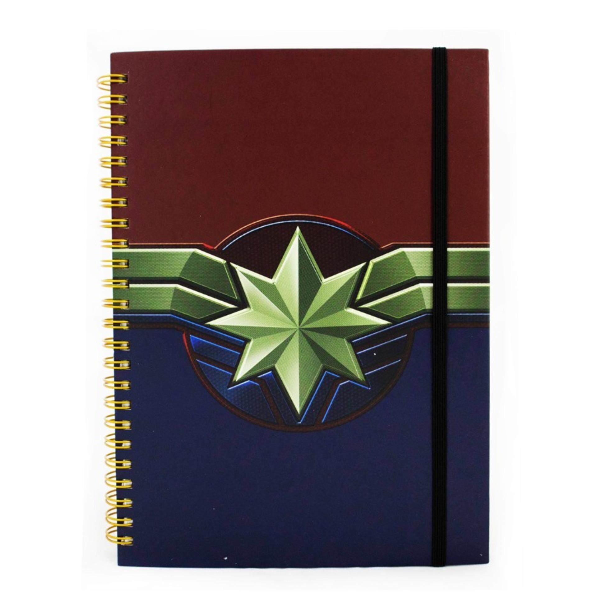 Marvel Avengers 100 Sheets A5 Hard Cover Notebook - Captain Marvel