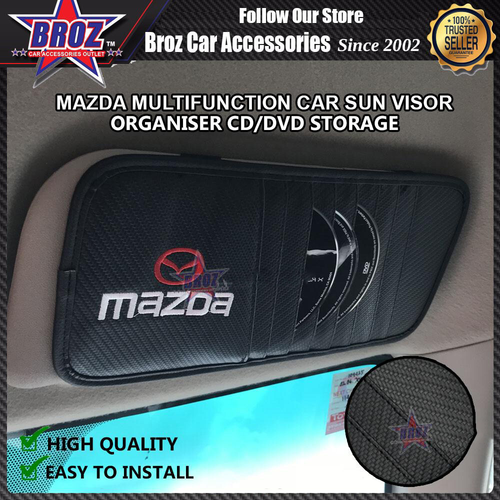 Broz DVD CD Storage Car Sun Visor Multifunction
