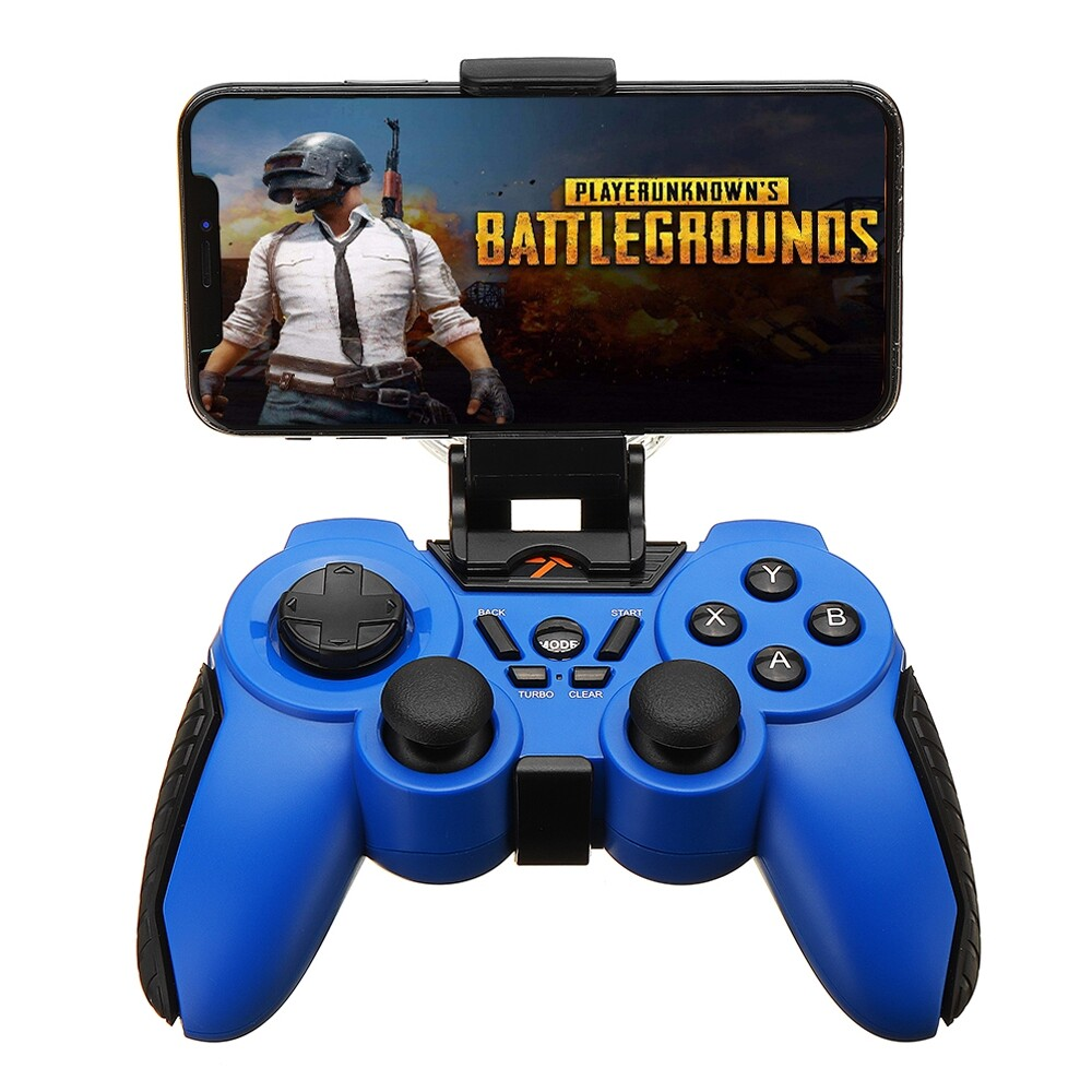 Phone Holder & Stand - PXN 8663 BLUETOOTH Vibration Turbo Gamepad with Phone Clip - Cases Covers