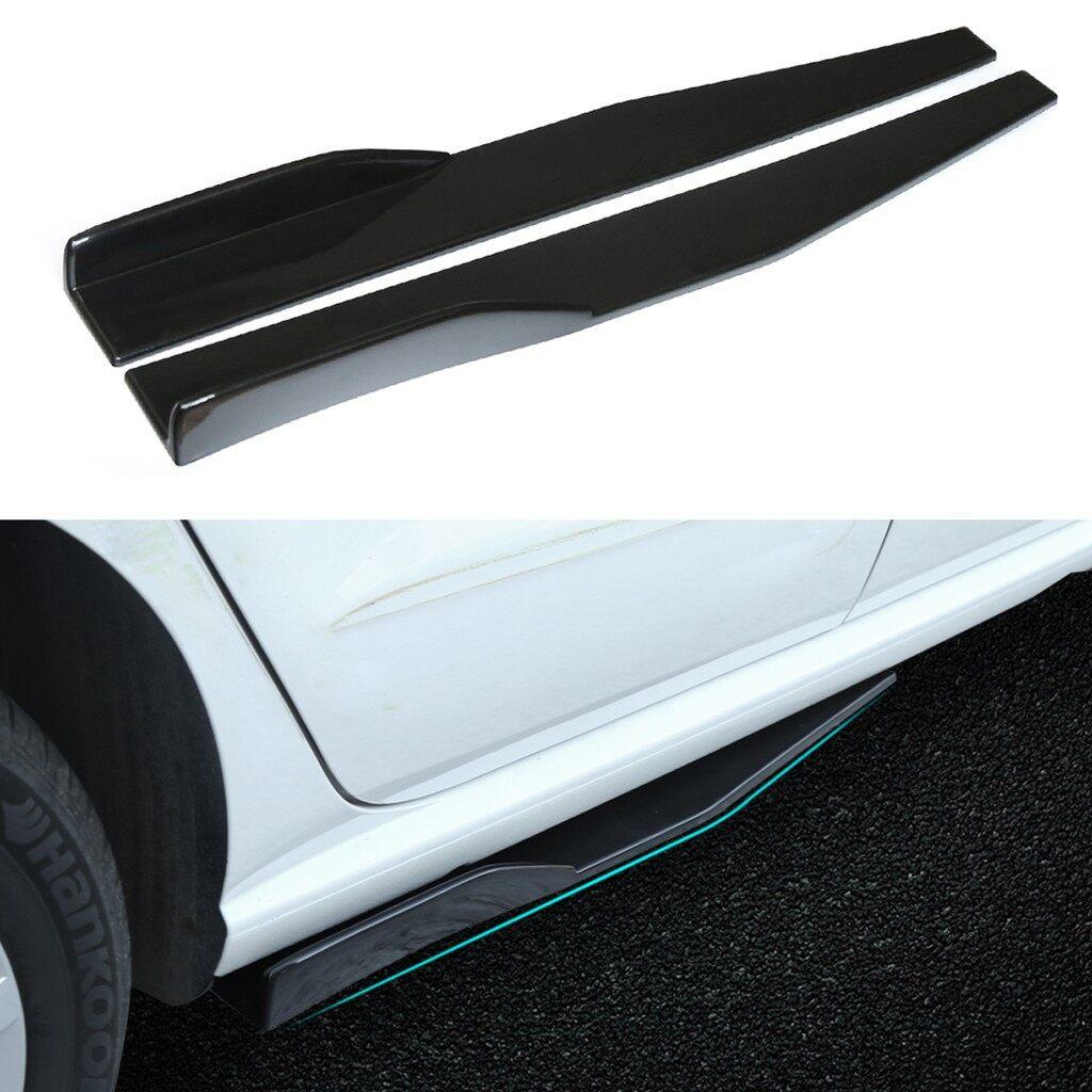 Car Lights - Pair Universal Black Side Skirt Rocker Splitters Winglet Wings Canard Diffuser - Replacement Parts
