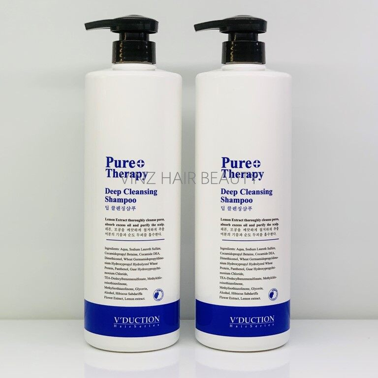V'DUCTION Pure Therapy Deep Cleansing Shampoo 1000ml x2