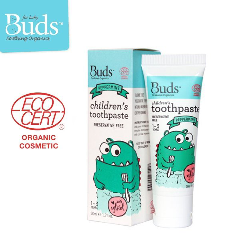 Buds Children's Toothpaste with Xylitol (Age 1-3) – Peppermint