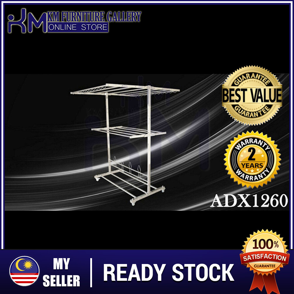 KM ADX 1260 Stainless Steel Free Standing Clothers Hanger/ Sidai Baju