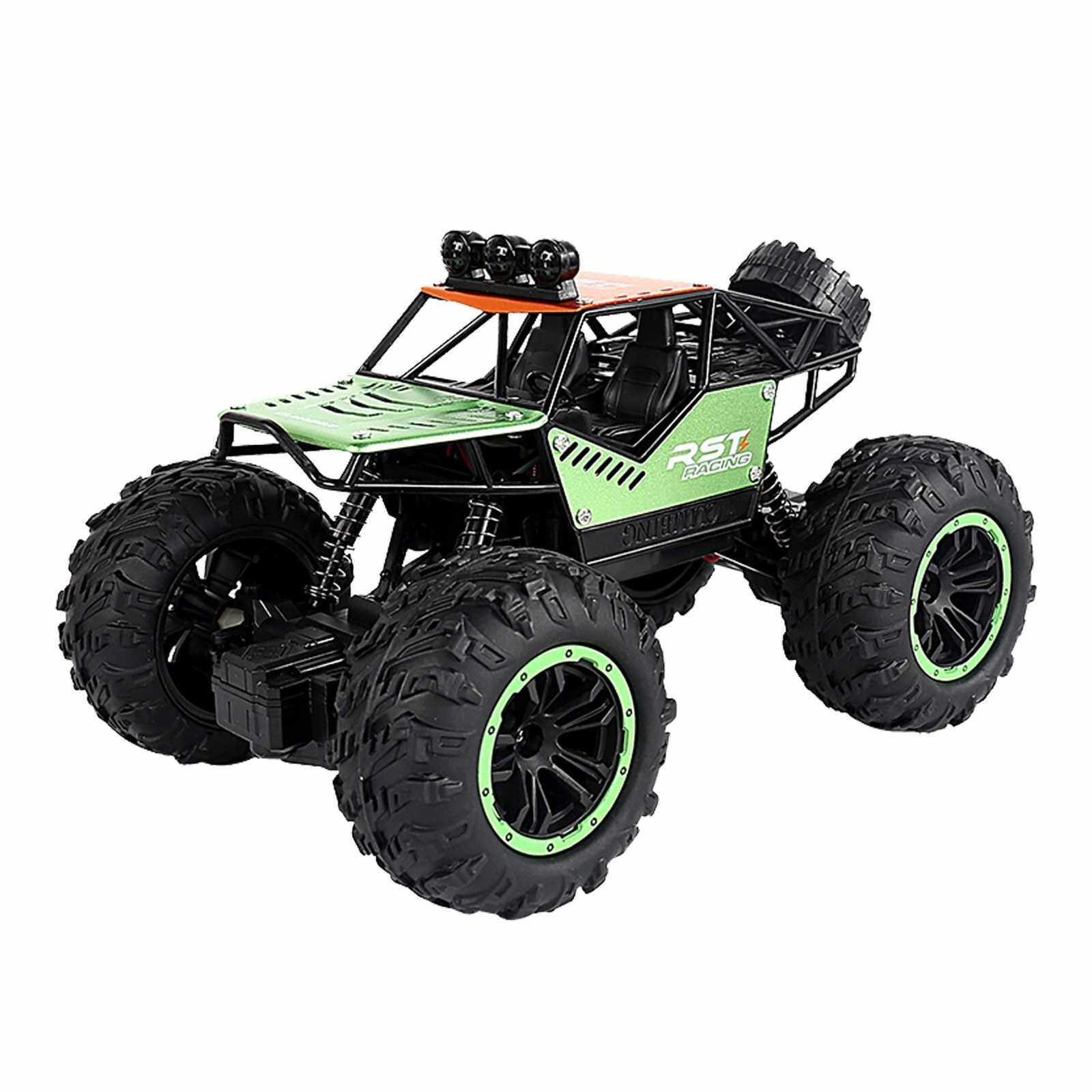 People's Choice 1/20 RC Car 20KM/H High Speed Off Road RC Trucks Alloy Shell Racing Climbing RC Car Gifts for Kids Adults (Green)