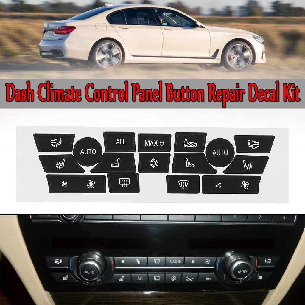 Engine Parts - Dash Climate Control Panel Button Repair Decal Kit For 2007-2015 BMW 7 SERIES - Car Replacement