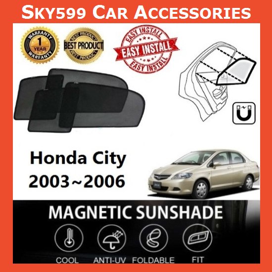 Honda City 2003-2006 Magnetic Sunshade ?4pcs?