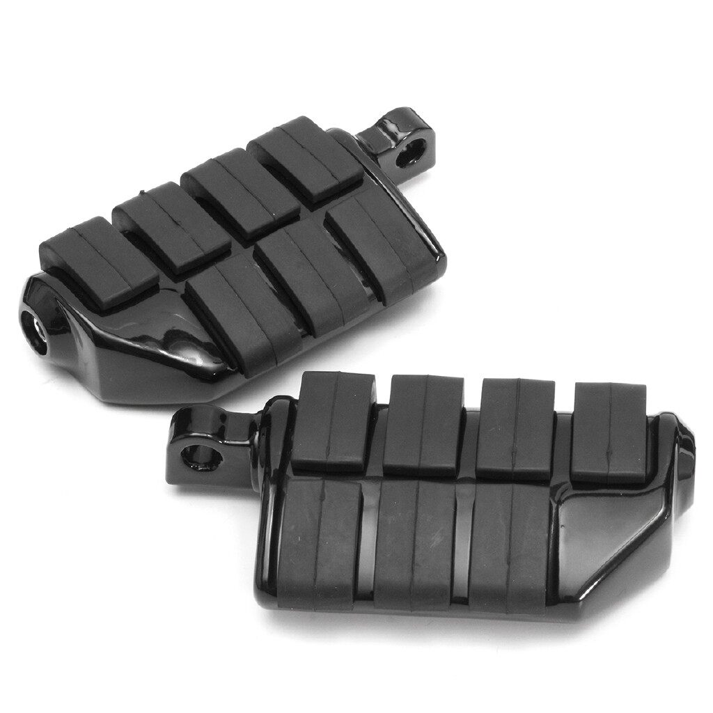 Moto Accessories - Pair Black Motorcycle Foot Peg Pedal Footrest For Harley Softail Dyna Sportster - Motorcycles, Parts