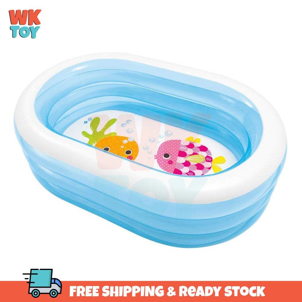 WKTOY Intex 57482 Oval Whale Fun Pool