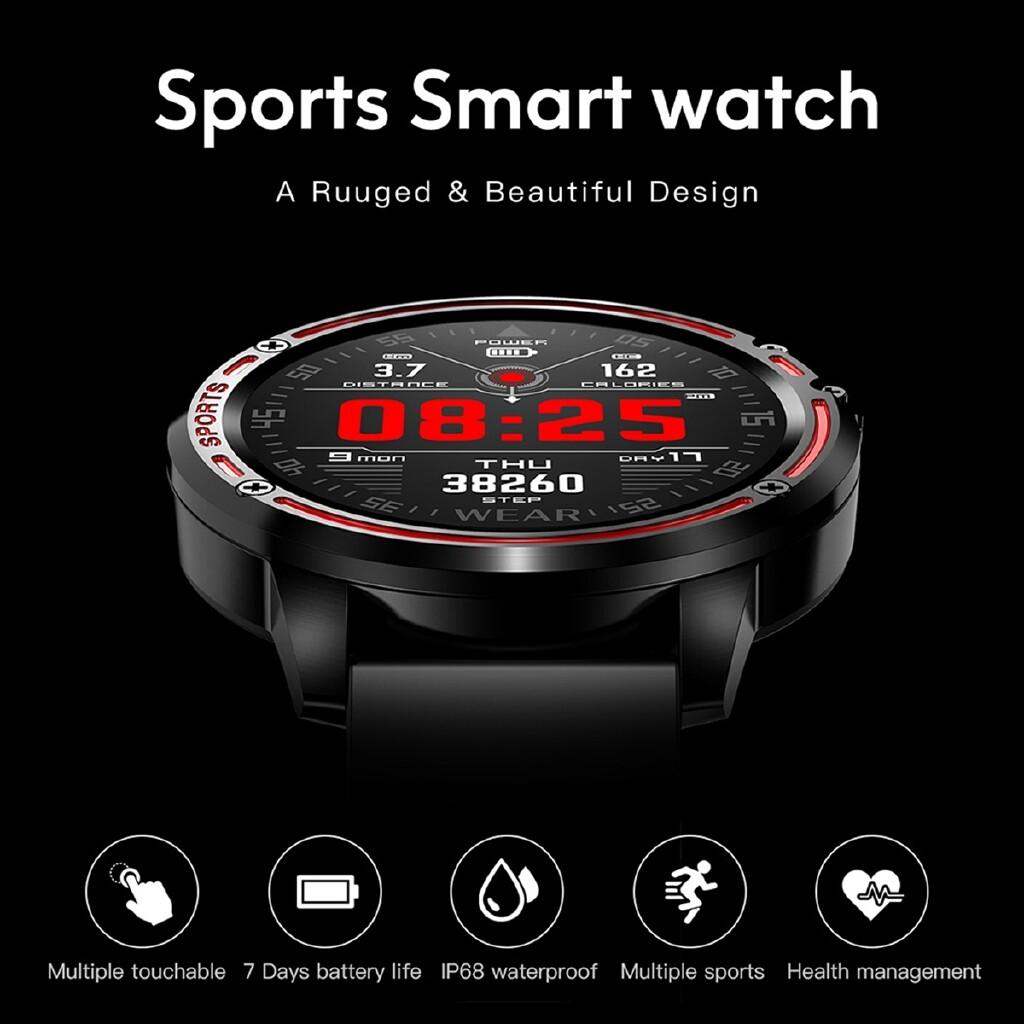 Smart Watch - L8 Sport Smart Watch IP68 Waterproof Heart Rate Blood Pressure Oxygen Fitness - BLACK / RED / GREEN