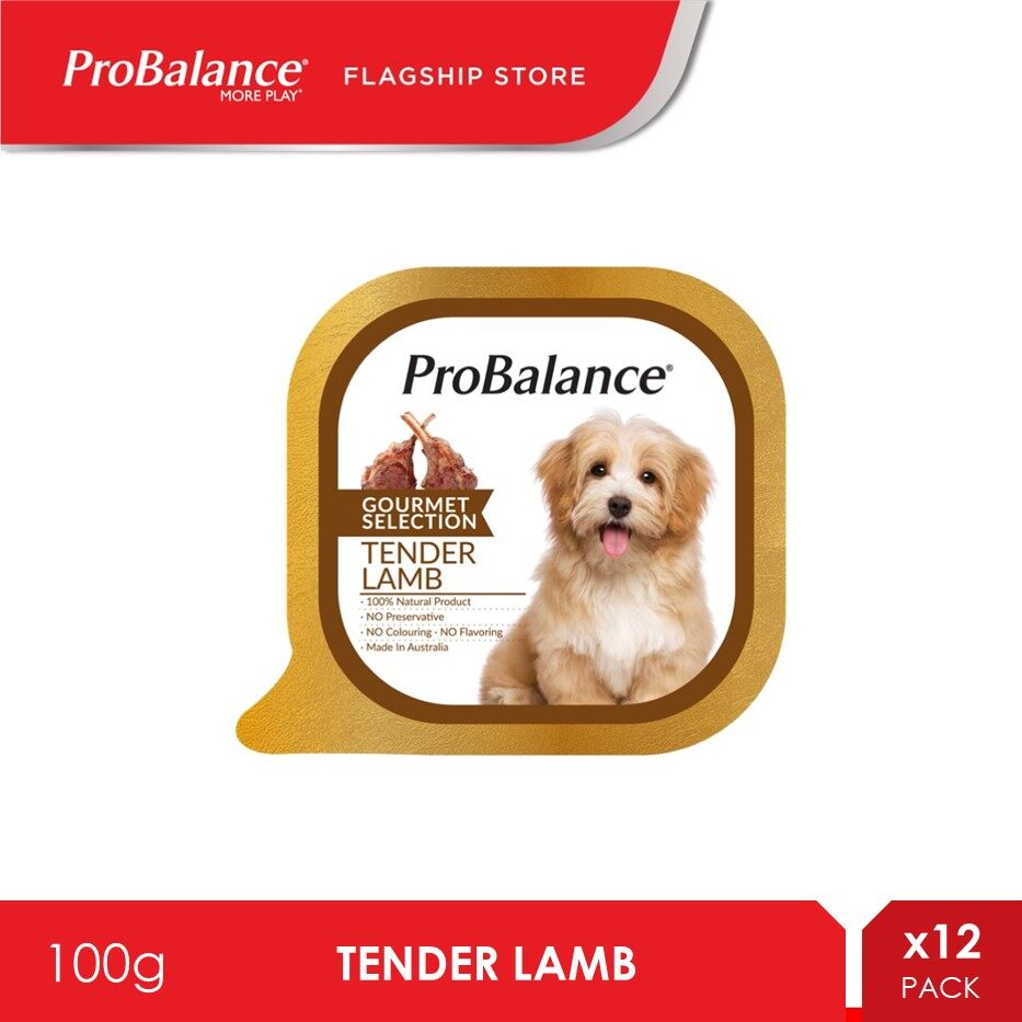ProBalance 100G Tender Lamb Gourmet Selection Wet Dog Food X 12 Packs [makanan anjing]