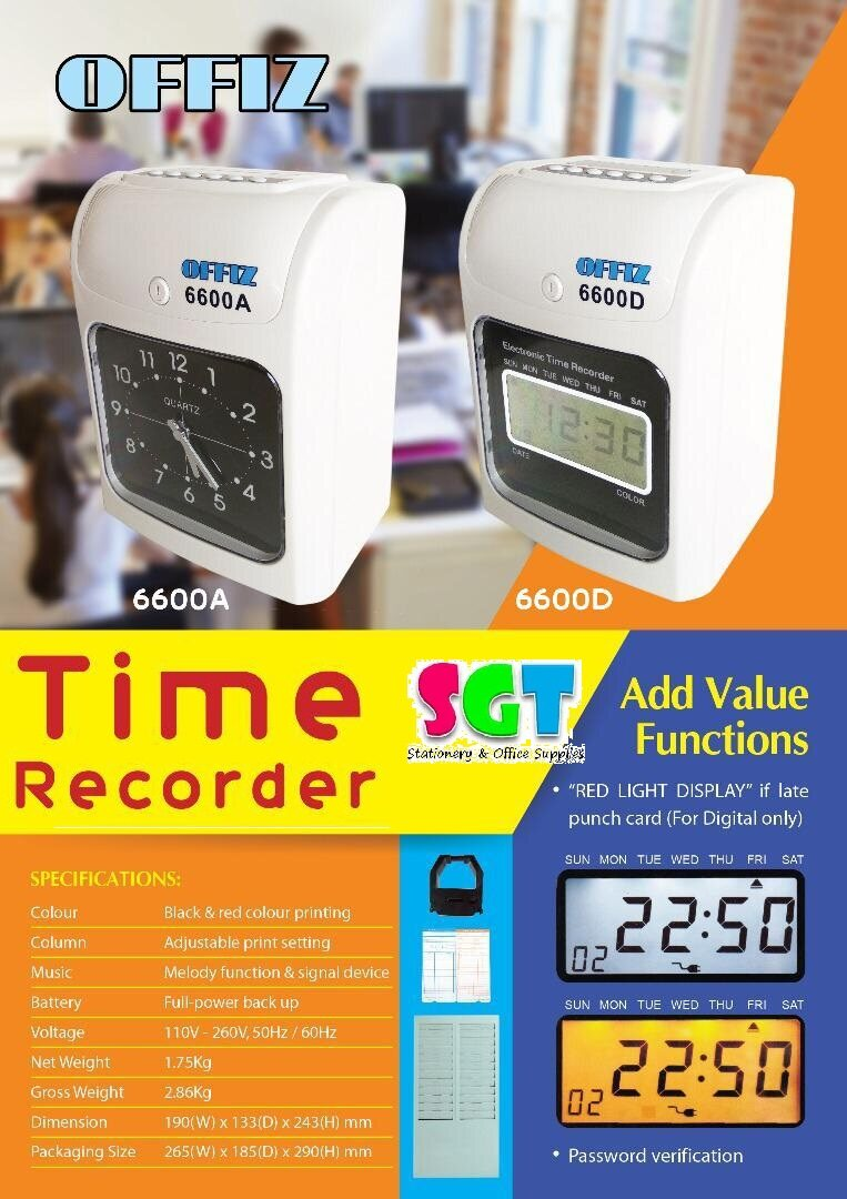 OFFIZ Time Recorder 6600D