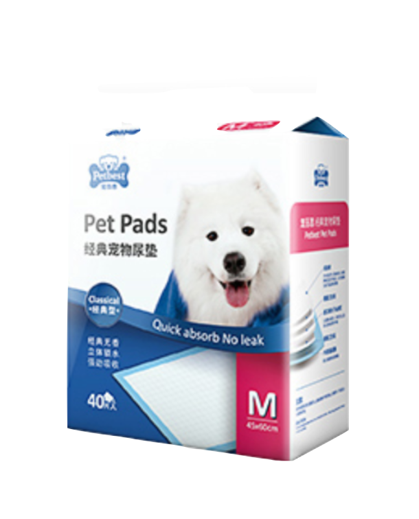 PETBEST【宠百思】Classic Training Pet Pads / Wee Wee Pads / Urine Pads 经典宠物尿垫 M Size (45cm x 60cm) 40pcs