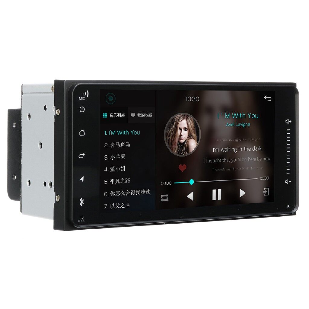 Car Multimedia Players - 7'' 2DIN Touch Screen Car Stereo Quad Core Radio MP5 Sat Nav For Toyota - Electronics