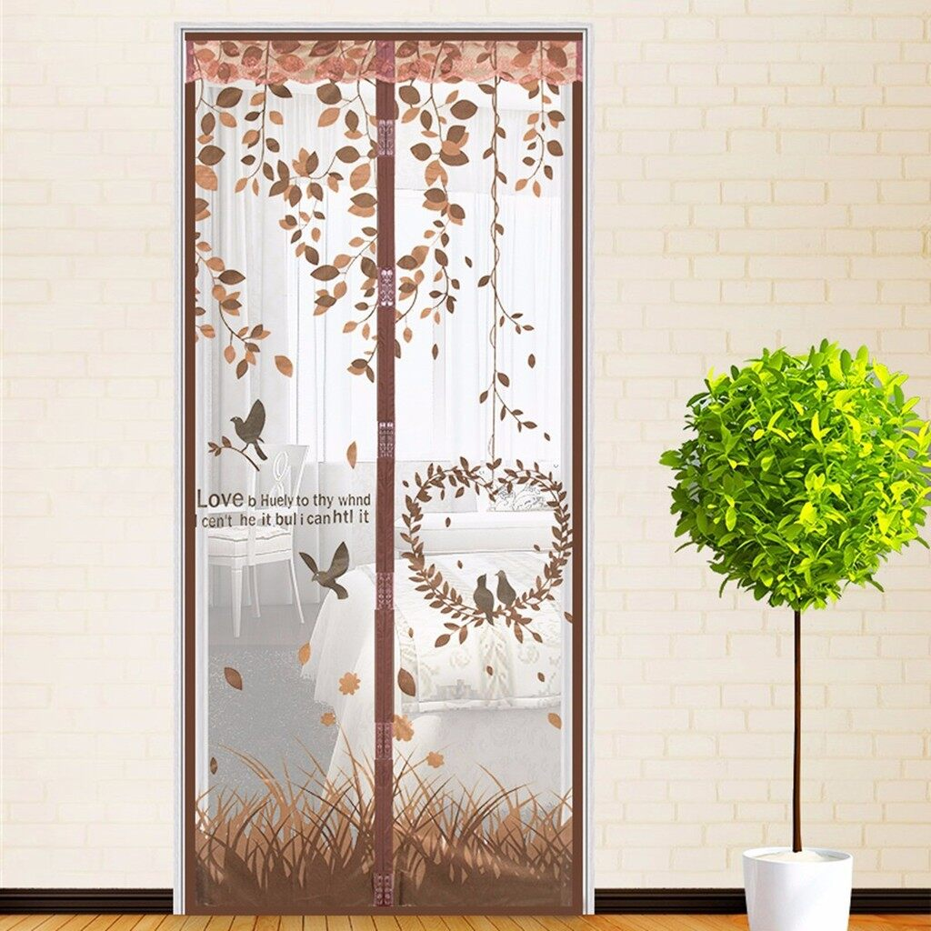 Curtains & Blinds - Magnetic Snap Door Window Curtain Mesh Screen Fly Bug Insect Mosquito_3C - COFFEE / BLUE / PURPLE / GREEN