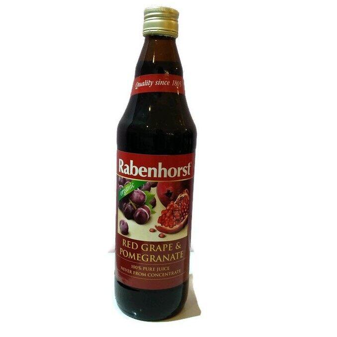 Rabenhorst Organic Red Grape & Pomegranate juice 750ml