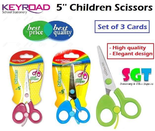 KEYROAD Chindren scissors 5'' ( set of 3 cards )