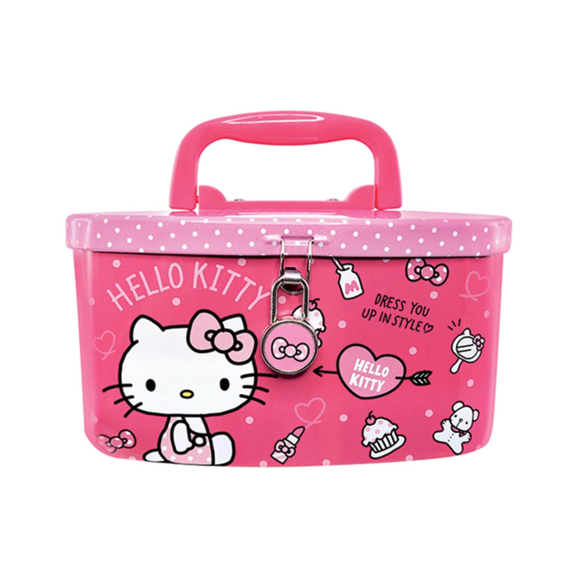 Hello Kitty Coin Bank With Lock - Pink Colour