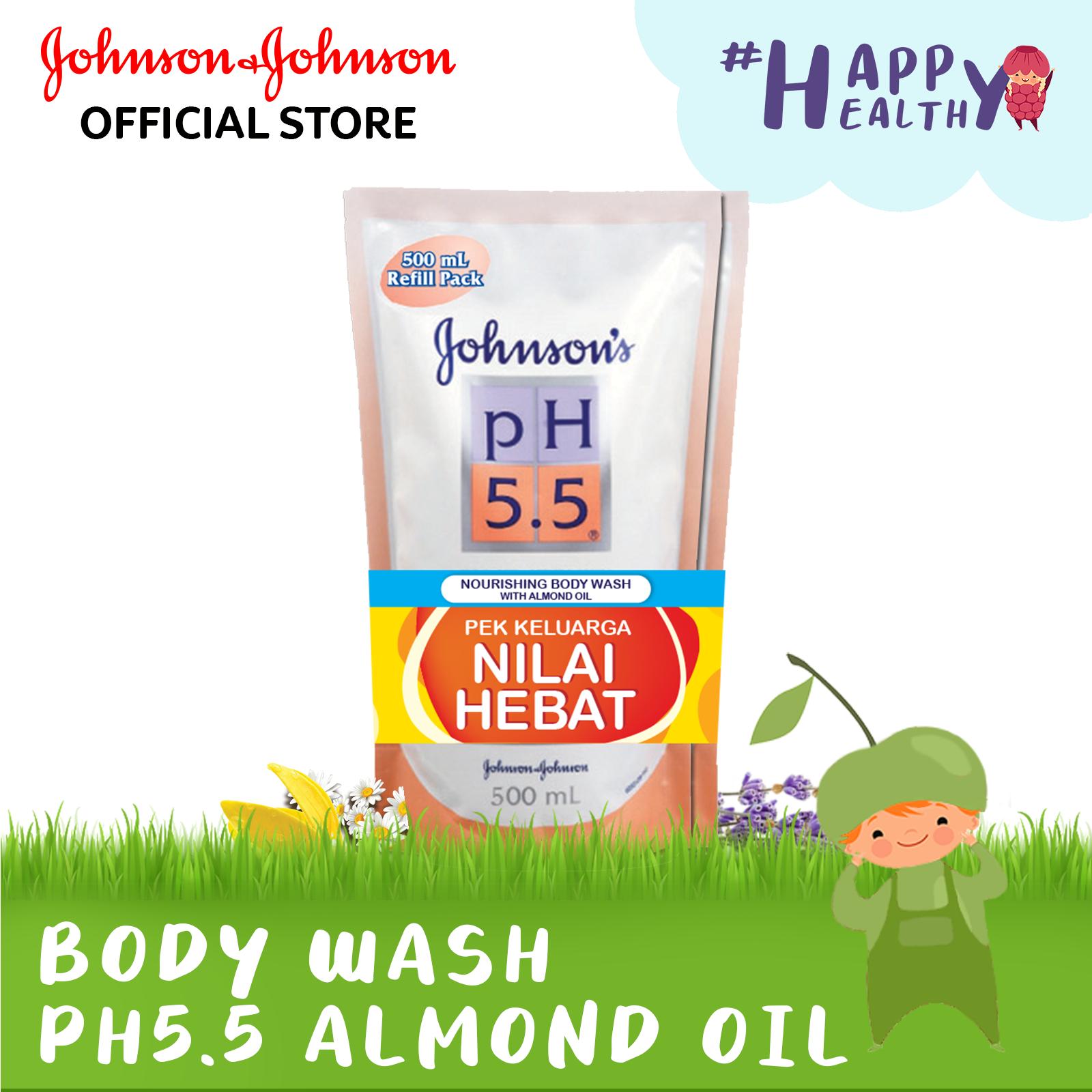 Johnsons PH5.5 Nourishing Almond Oil 500ml Refill [Twin Pack]