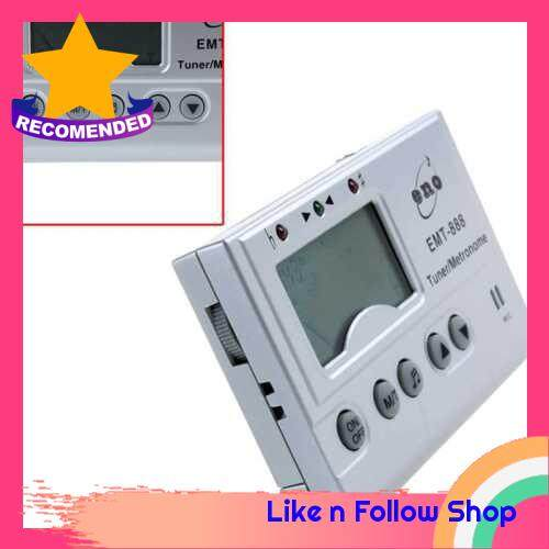 3in1 Digital LCD Automatic Universal Chromatic Tuner Metronome Tone Generator with Mic (White)