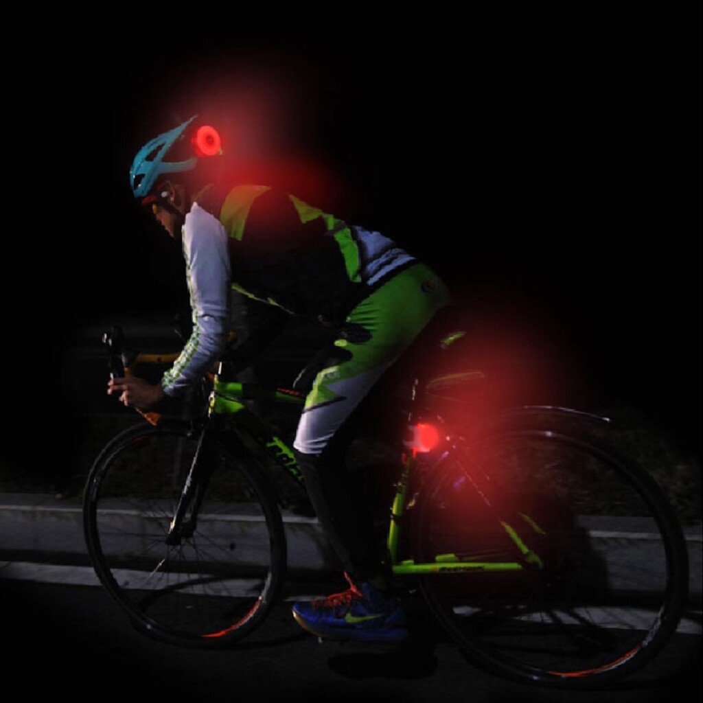 Parts & Components - Bike Rear Tail Light LED USB Rechargeable Bicycle Helmet Backpack Sport Red Lamp - BLACK / SILVER / RED