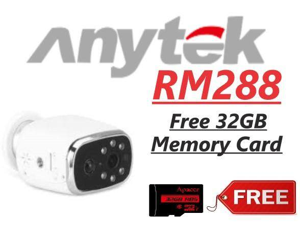 Anytek WiFi Low Power Consumption 720p HD CCTV battery Camera with Remote App Control (Free 32GB Memory Card)
