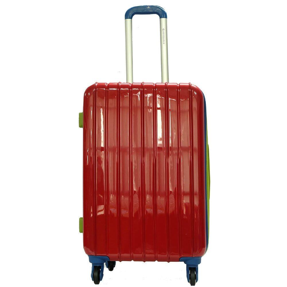 Giordano GAD1232 20 inches MULTICOLOR PC Hard Case w Expander- 4W Red