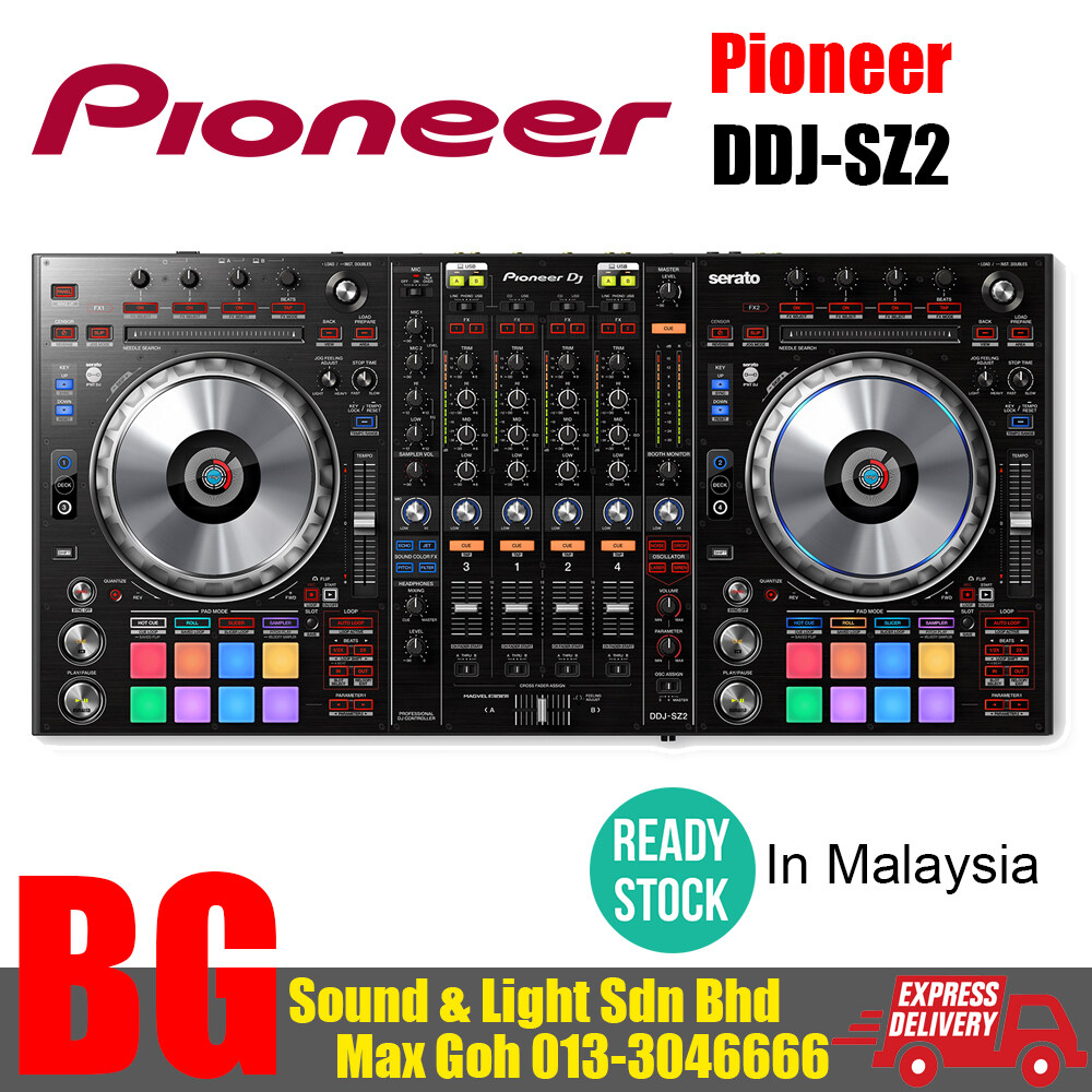 [READY STOCK IN MALAYSIA] Pioneer DDJ-SZ2 Flagship 4-channel controller for Serato DJ Pro