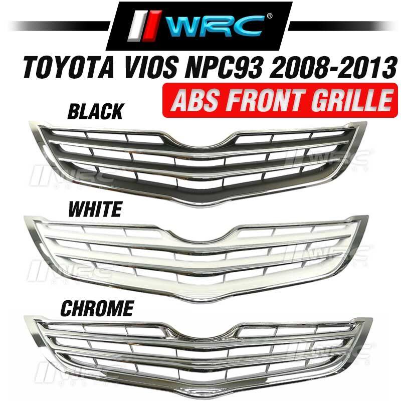 Toyota Vios NPC93 2008 - 2013 ABS Chrome Front Grille ( White )