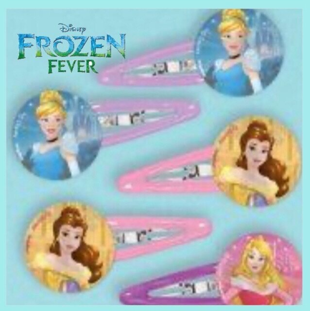Free 2pcs Hair Clip Frozen Disney With Comb Random Character