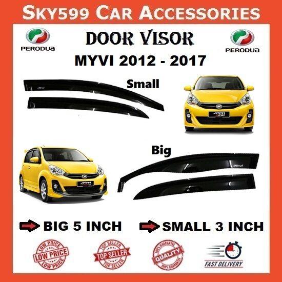 Perodua Myvi 2012-2017 3inch Door Visor /air press?1set 4 Door?