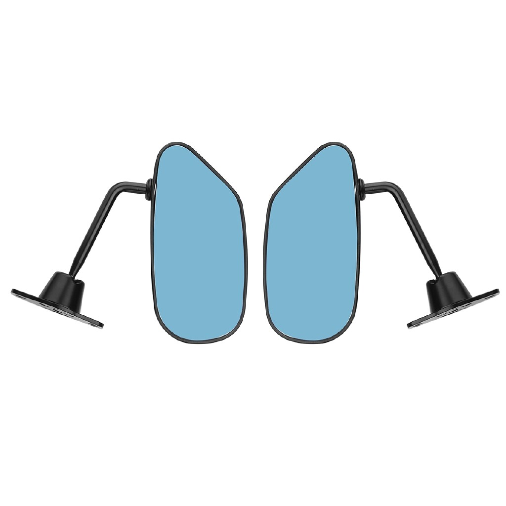 Car Lights - Universal Black Racing Car Side Wing Mirror BLUE Anti-glare Glass - F1 Style - Replacement Parts