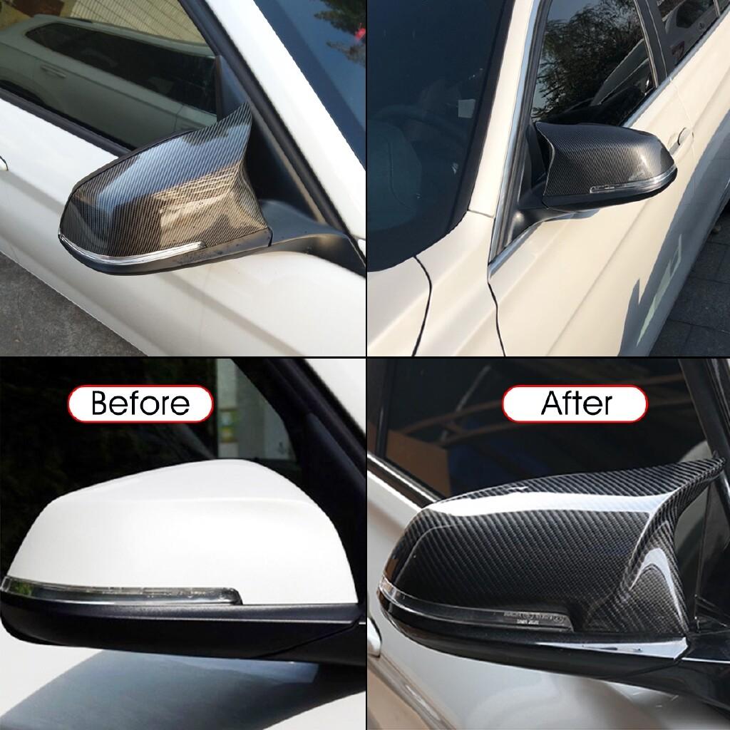 Car Accessories - Coque Retroviseur Fibre Carbone pour BMW F20 F22 F23 F30 F31 F32 F33 F36 F87 E84 - Automotive