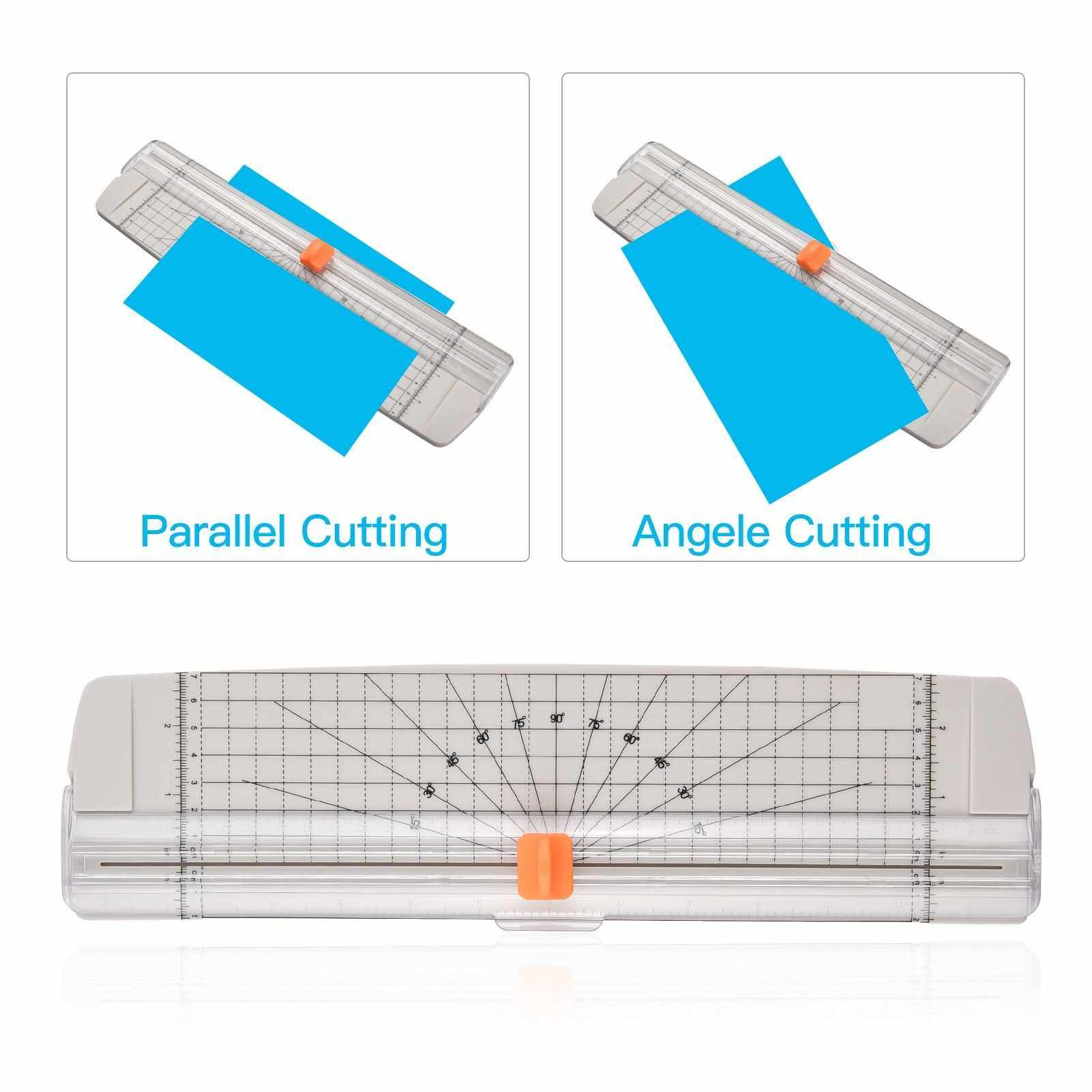 Aibecy Portable Paper Trimmer A4 Size Paper Cutter Cutting Machine 12 Inch Cutting Width for Craft Paper Photo Laminated Paper (W)