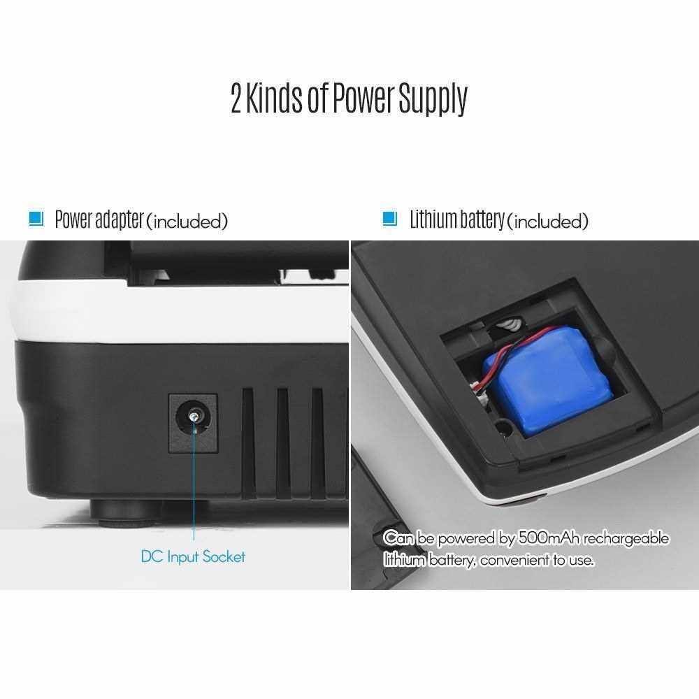 Portable Small Banknote Bill Detector Denomination Value Counter (Eu Plug)